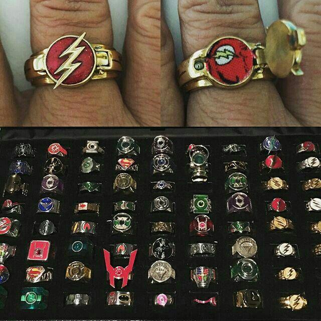 Kickass superhero rings. #theflash