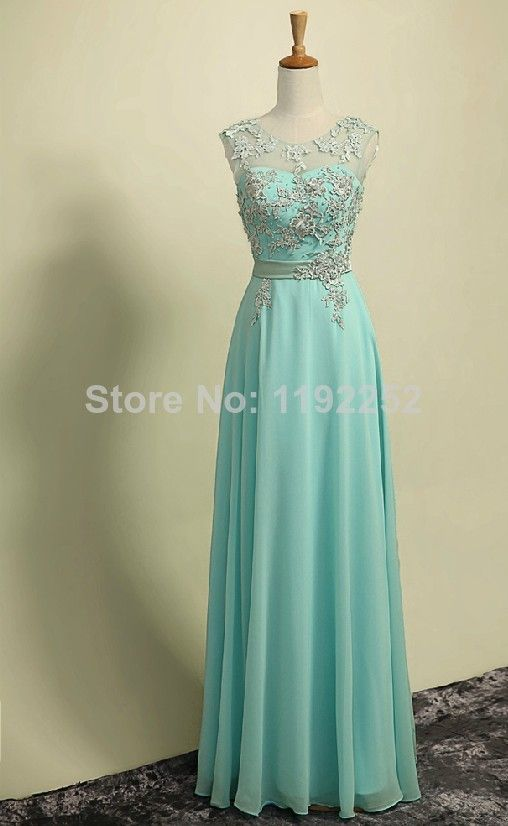 Custom Made Free Shipping Charming Sexy High-NeckChiffon Prom Dresses 2014 Ankle-Length A-line Evening Gowns 2014 New Arrival $145.00