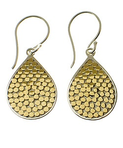 Anna Beck Riau Gold Teardrop Earrings