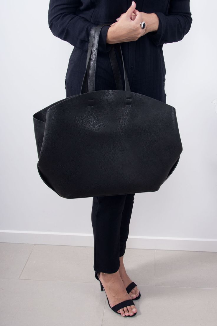 Work Bag of Your Dreams | Black Tote Bag | Scandinavian Style