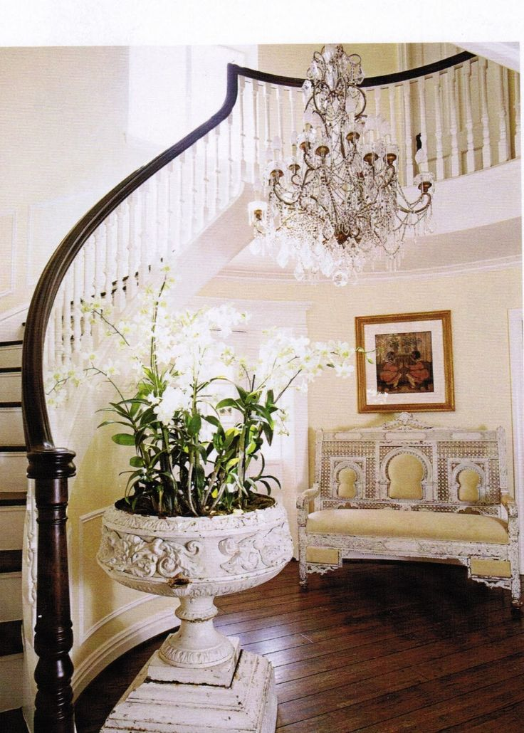 Foyer Interior Urn : Best staircase window treatments images on pinterest