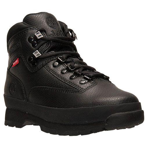 mens timberland canvas euro hiker boot black