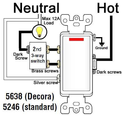 Single Pole Switch With Pilot Light Wiring Diagram 2006 Nissan Pathfinder Bose Stereo 3-way Switch/ Http://waterheatertimer.org/how-to-wire-cooper-277-pilot-light-switch ...