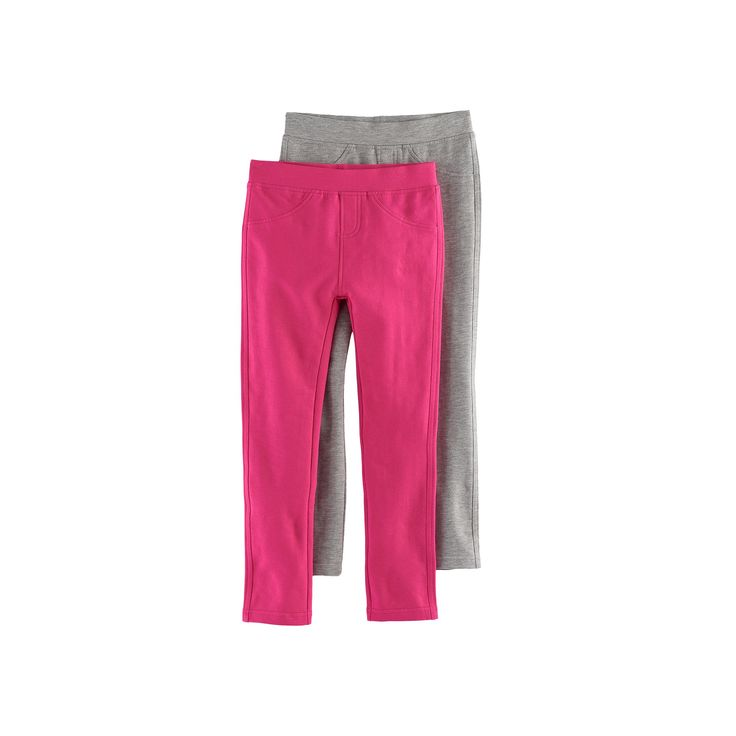 Girls 4-6x Freestyle Revolution 2-Pack Solid Jeggings, Size: 6X, Ovrfl Oth