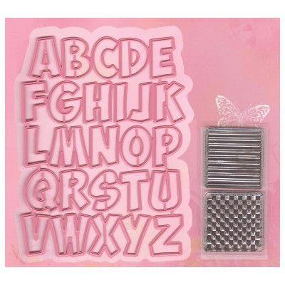 Die-Cutting | Marianne Design Collectables Dies W/Stamps-Alphabet | Blitsy