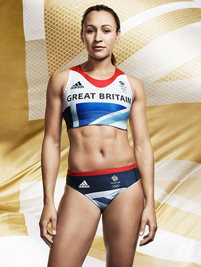Jessica Ennis in women's track and field kit. The official London 2012 Olympic and Paralympic Games Team GB kit, designed by Stella McCartney has been launched.