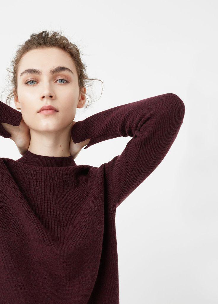 Camisola gola alta (grená): MANGO (25,99€)