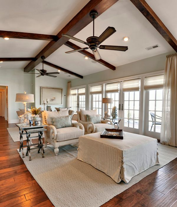 13 best ceiling fans images on pinterest bedrooms for Half vaulted ceiling with beams