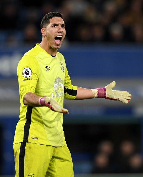 Joel Robles of Everton during the Premier League match between Everton and Southampton at Goodison Park on January 2, 2017 in Liverpool, England.
