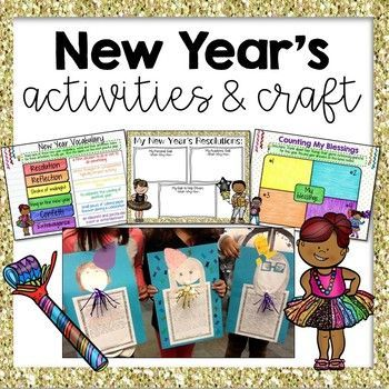 Perfect new year's activities and craft! Love this!