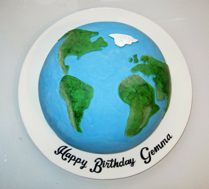 Planet Earth Cake by The Coloured Bubble Cakery