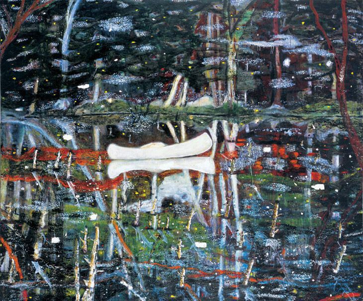 Peter Doig, White Canoe, 1990