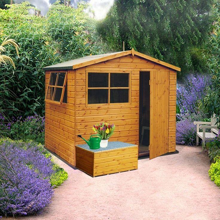 Shire Wroxham  Pine Shiplap Timber Shed 10x6  (Pine Log Optional)