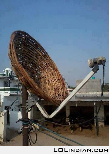 biggest jugaad dish antenna