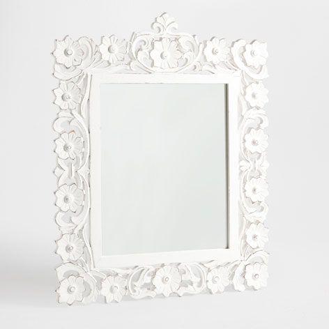 Espejo flores caladas espejos decoraci n zara home for Espejo zara home