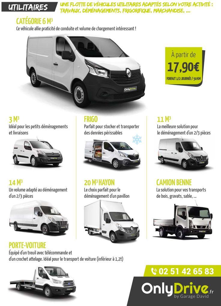 Onlydrive.fr, une flotte de véhicules utilitaires adaptés selon votre activité (déménagement, frigorifique, travaux, marchandises)