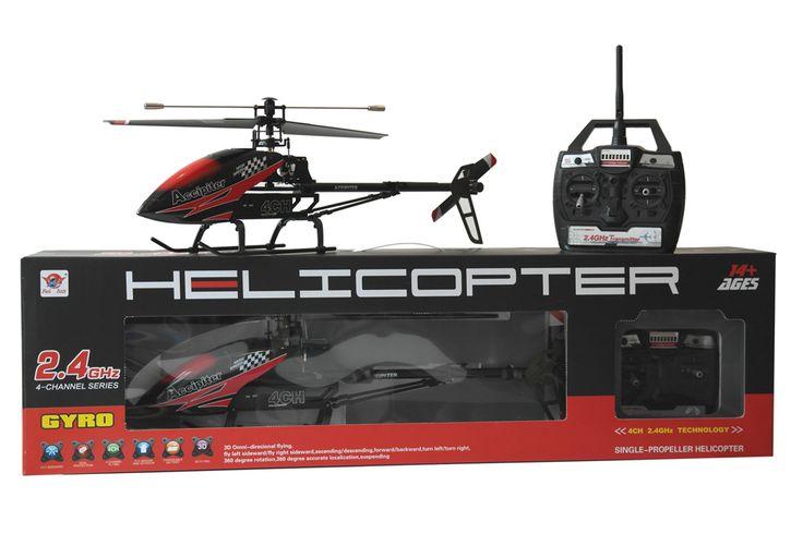 FX52 RTF Single Rotor RC Helikopter - 2.4 GHz - 4 Kanals     RTF RC Helikopter med gode flyve egenskaber. Nem at styre, men alligevel udfordrende for den mere øvede pilot grundet de 4 kanaler. Kan flyve frem - tilbage, op - ned, sidelæns højre - venstre, dreje til højre - venstre. Flyve indendørs eller udendørs ved lave vindhastigheder.    60 cm.   Single Rotor   Fast Pitch med Gyro  2.4GHz, 4 kanals   Ca. 1 times ladetid   Ca. 8 til 10 minuters flyvetid   Rækkevidde op til ca. 50 meter