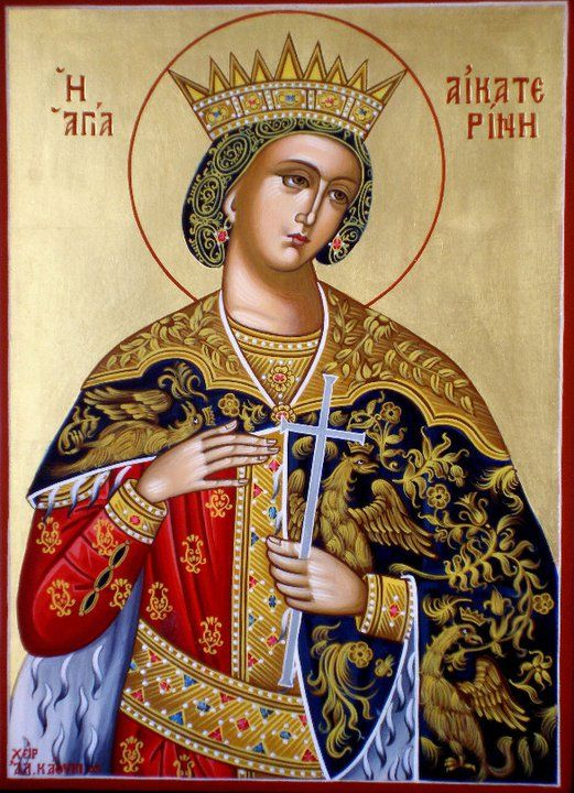 Saint Catherine of Alexandria, also known as Saint Catherine of the Wheel and The Great Martyr Saint Catherine (Greek: ἡ Ἁγία Αἰκατερίνα ἡ Μεγαλομάρτυς) is, according to tradition, a Christian saint and virgin, who was martyred in the early 4th century at the hands of the pagan emperor Maxentius.