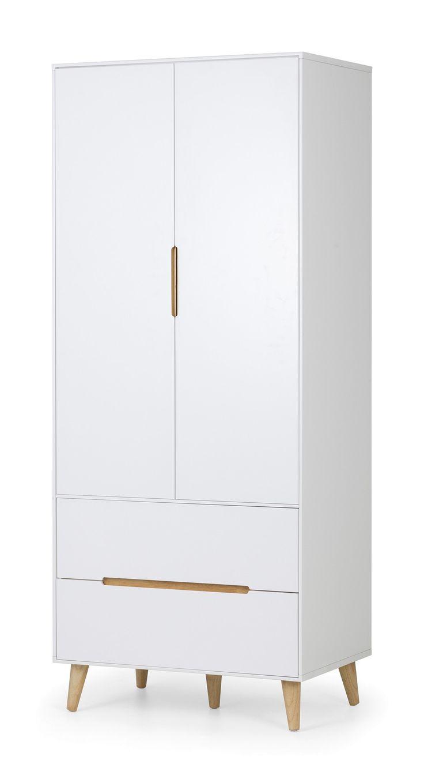 Bonsoni Ashley Alicia 2 Door Wardrobe  Immaculate matt white lacquered finish  https://www.bonsoni.com/ashley-alicia-2-door-wardrobe