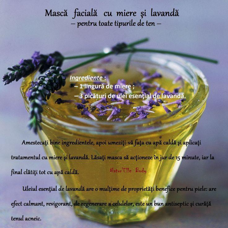 Mască facială cu miere şi lavandă – pentru toate tipurile de ten –