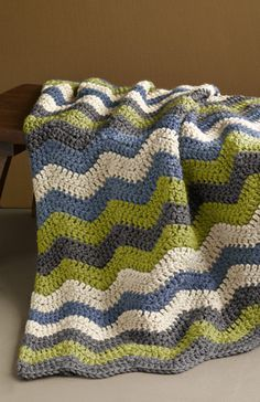 Free Crochet Pattern: Shaded Ripple Afghan -I really want to make a large afghan (instead of just baby ones). But do I have the patience?