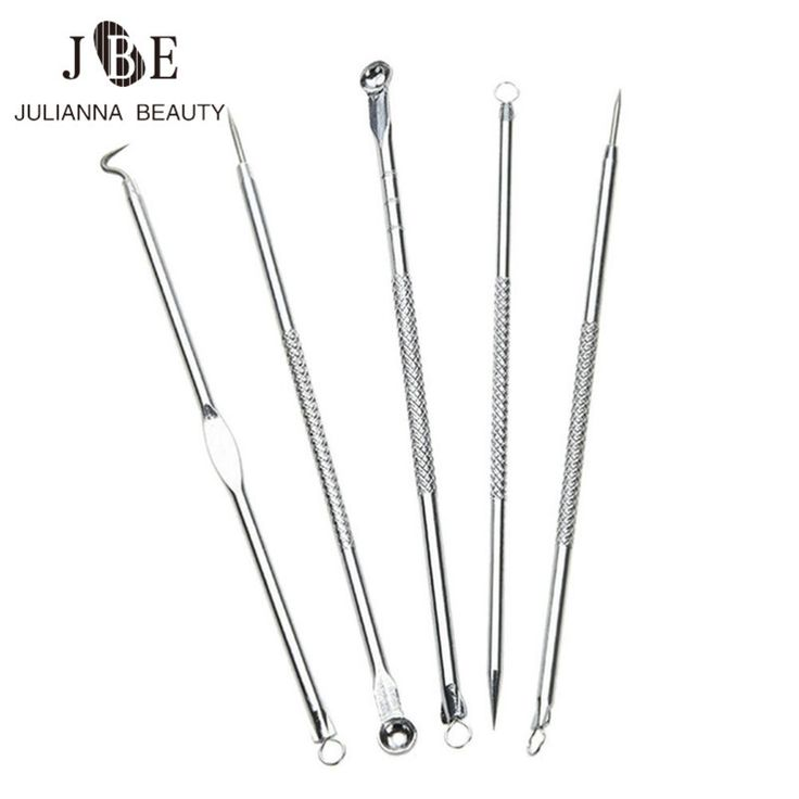 5Pcs/Set Black Head Pimples Antibacterial Acne Needle Face Care Blackhead Extractor Comedone Acne Blemish Extractor Remover Tool