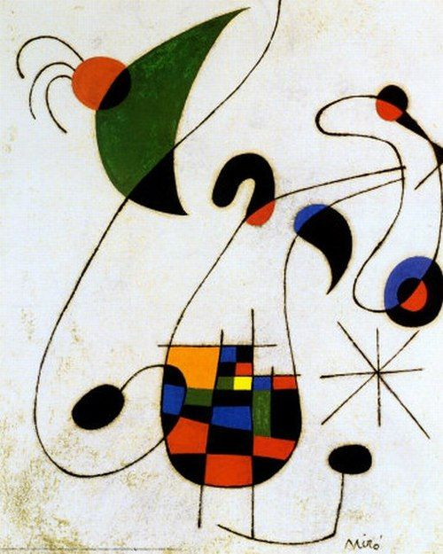 themetropolitanline:    loftcultural:    Joan Miró - The Melancholic Singer (1955)