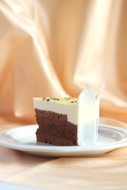 Chocolate & Passionfruit Mousse Cake