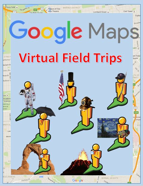 Google maps street view virtual field trips! Hyperdocs link students to 360 views inside Google Maps
