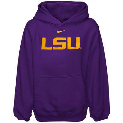 Nike LSU Tigers Youth Purple Classic Logo Pullover Hoodie Sweatshirt