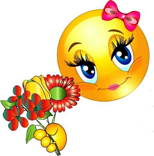 Картинки цветы красивые смайлики