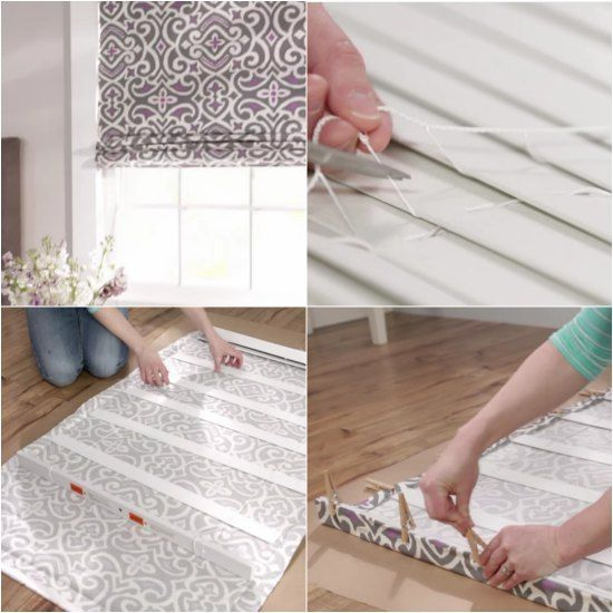Do you have a set of mini blinds that you no longer plan to use? A perfect way to repurpose them will be to learn how to turn mini blinds into roman shades.