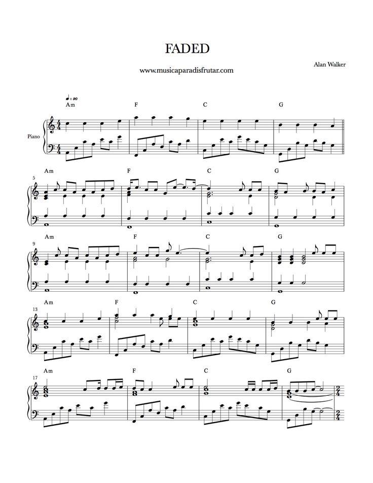 faded alan walker partitura para piano - Search