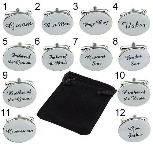Chic Classic Silver Color OVAL Mens Wedding Cufflinks Cuff Link Groom Usher Page #yichengmall2014us