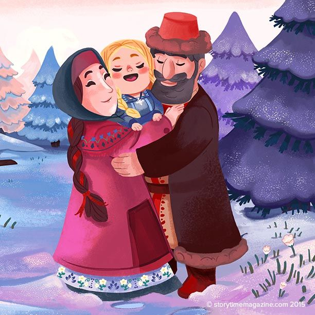 A Snow Child comes to life in the Russian tale of Snegurochka! Illustration by Audrey Molinatti (http://audreymolinatti.deviantart.com). Lovely!  ~ STORYTIMEMAGAZINE.COM