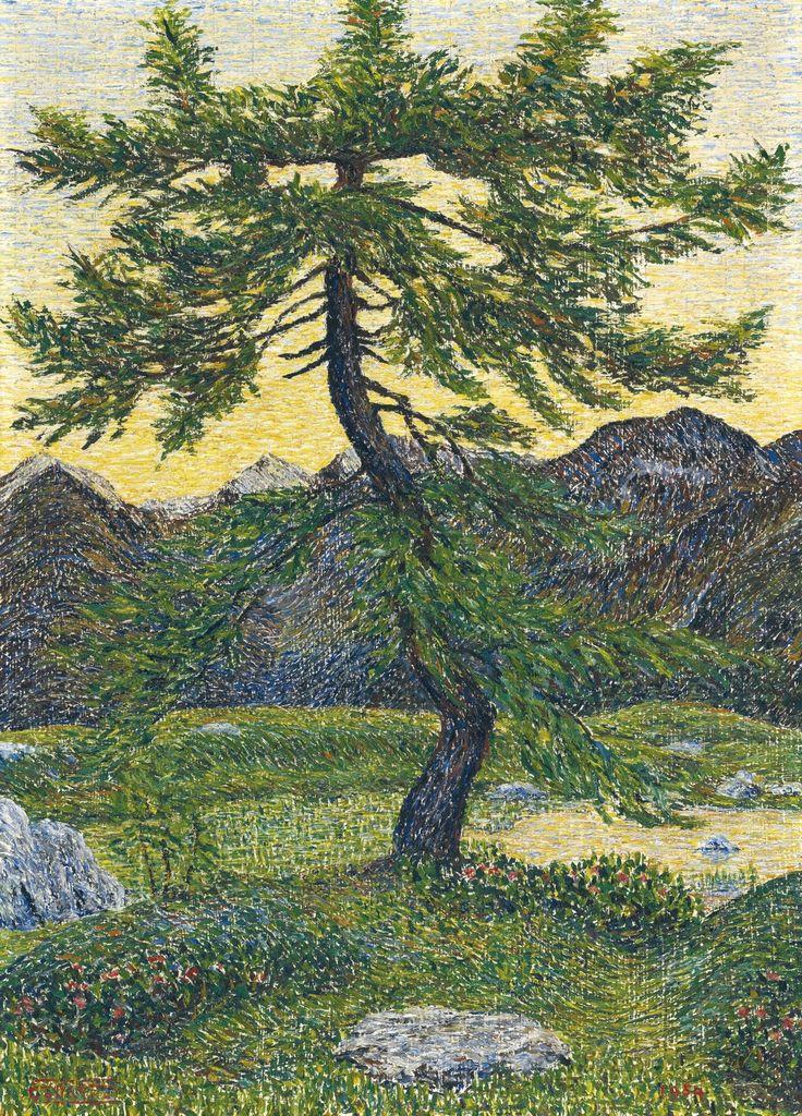 Gottardo Segantini (Swiss, 1882-1974), Pine in Mountain Landscape, 1954.