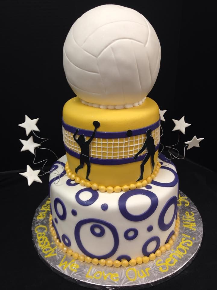 Closer view of fondant details on whimsical volleyball cake. #fondant #cake…