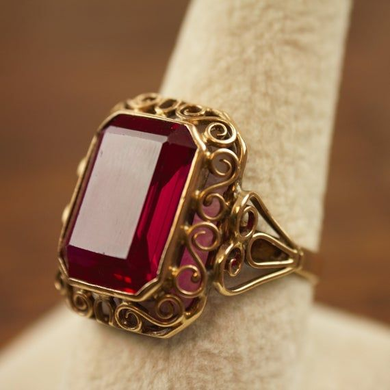 Victorian Revival Hand Crafted 12 Carat Ruby Ring Poland 14k Image 5 Gold Ring Designs Gold Jewelry Fashion Bridal Gold Jewellery