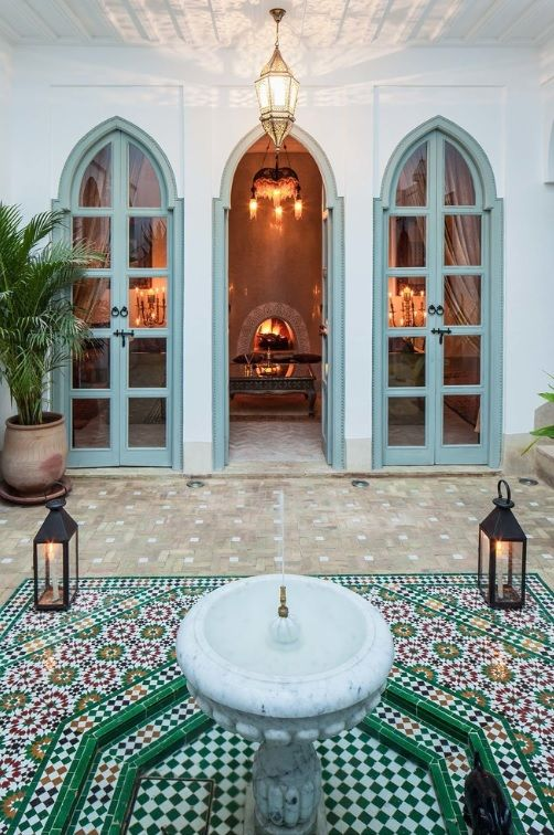 Moroccan Home Interior: 142 Best Riads Images On Pinterest