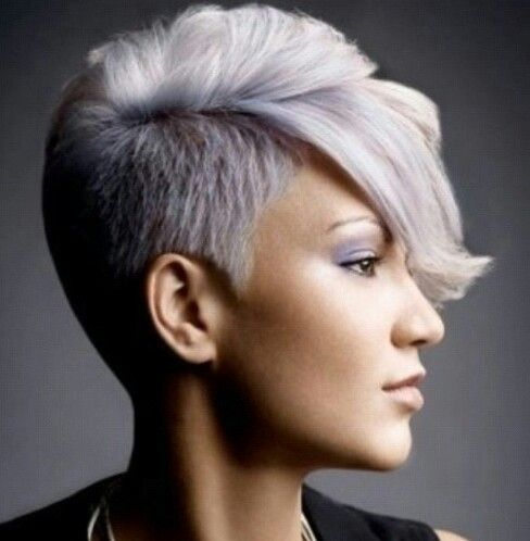 White with a hint of lavender. Love the cut and color