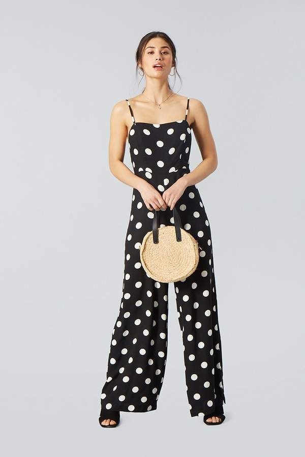 22b45905c9b7 Forever 21 Polka Dot Cami Jumpsuit. 2018 SPRING   SUMMER FASHION TRENDS.  ad   summer  jumpsuit  polkadots  resortwear  summerfashion