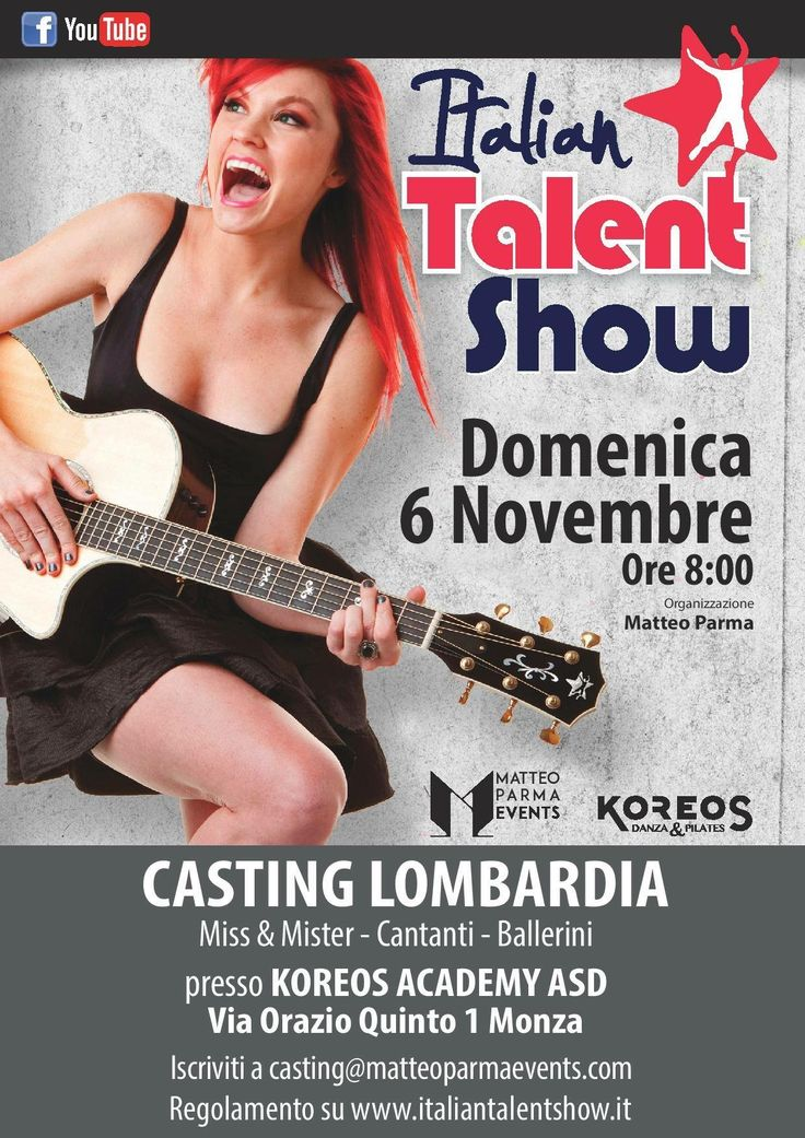 #casting di Italian Talent Show Lombardia