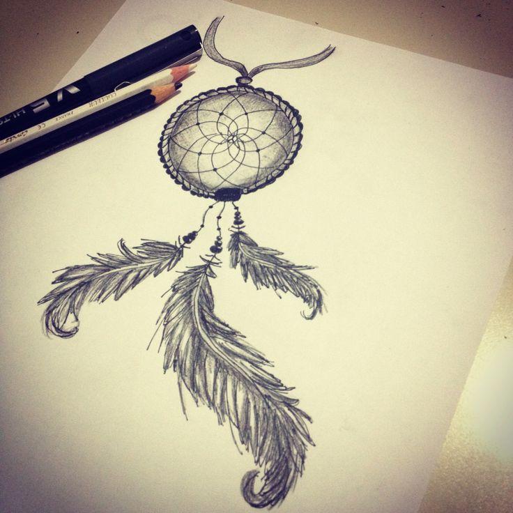 Acchiappasogni a matita dreamcatcher pensil disegni for Acchiappasogni disegno
