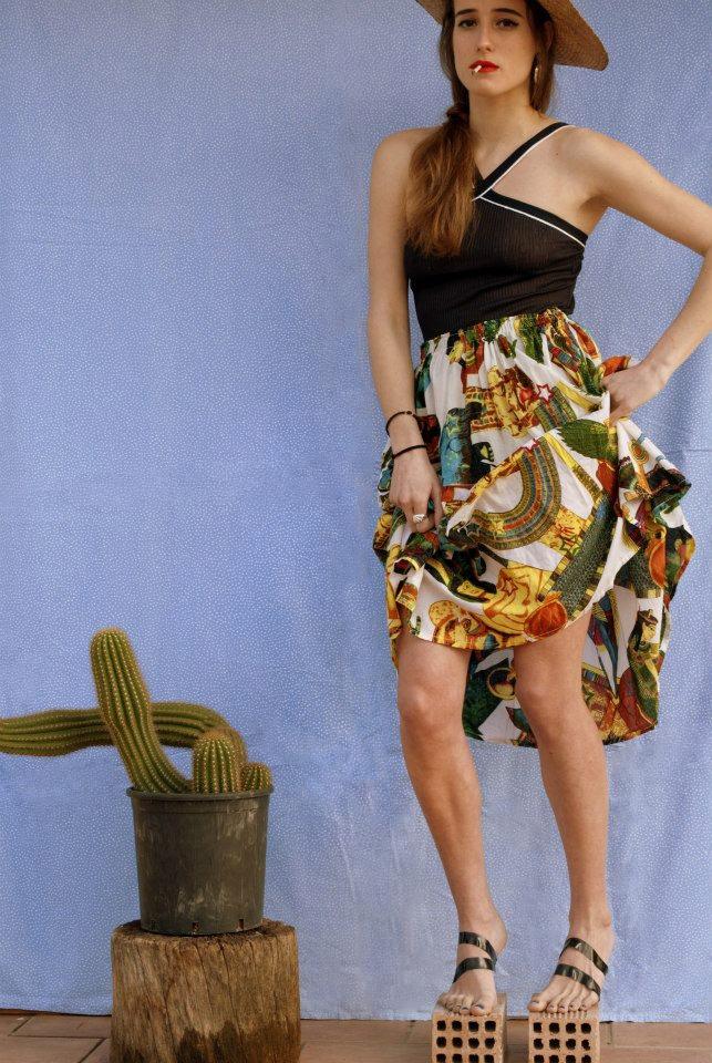 crazy pattern skirt