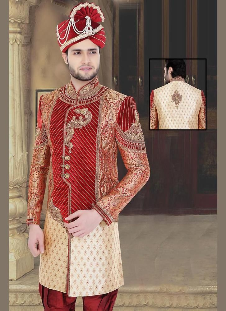 The 23 best indian men wedding images on Pinterest | Moda masculina ...