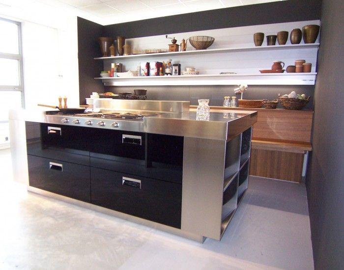 moderne keukens met kookeiland petrol blauw - Google zoeken