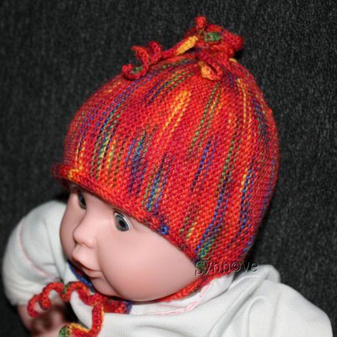 Babyhat, machine knitting - using Regia yarn