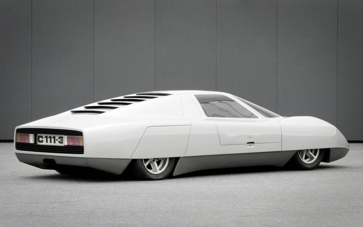 Mercedes C-111, one of a series of experimental prototypes built in the 60s/70s using Wankel and turbocharged engines.