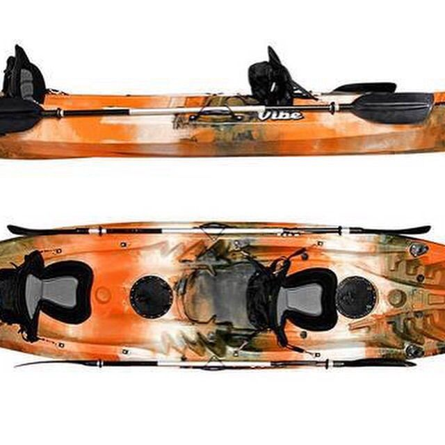 MODEL YEAR CLOSEOUT! We have one 2014 Vibe Kayaks Skipjack 120T left in stock, MSRP was $749, get it today for $650! This is the Orange Camo, and comes with 4 flush mount rod holders, 2 seats, and 2 paddles. Call or email today! 706-830-4228 or sales@southernmoonoutfitters.com #Tandem #hurry #one #discount #kayaks #smollc #southernmoonoutfitters #kayaking #vibe #vibekayaks #sports #outdoors