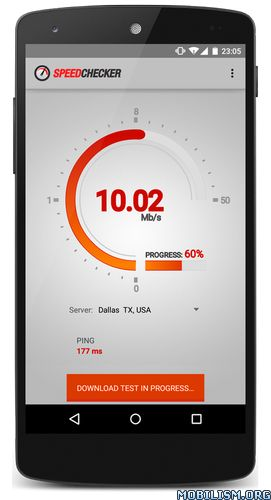 Internet Speed Test 3G,4G,Wifi v2.0.80 [Premium]Requirements: 2.3+Overview: Speed Checker is an easy to use Android app for quickly checking your internet speed. The speed test is specifically optimized for mobile devices and measures accurately on...